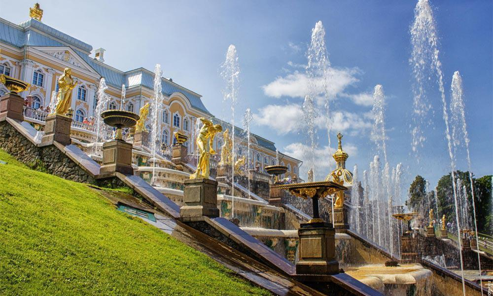 Peterhof- The royal Summer Palace of Tsar-Peter the First (Great), the founder of St.Petersburg.